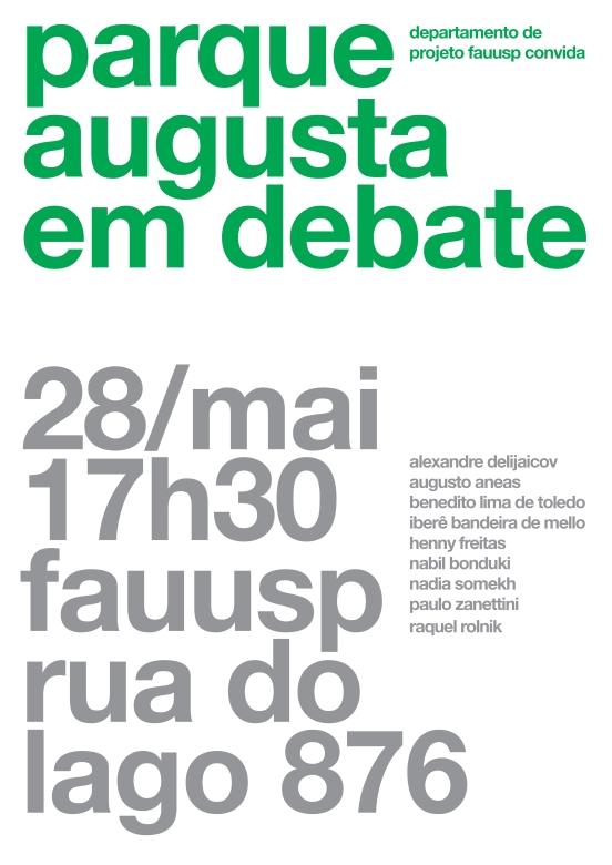 cartaz parque augusta em debate final